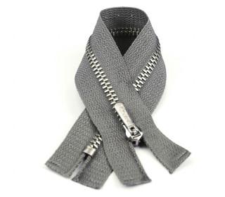 1 Reißverschluss - 18cm - Hochwertig - Metall - Prym - Grau (004)