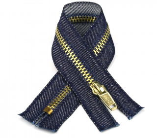1 Reißverschluss - 8cm - Hochwertig - Metall - Prym - Jeans dunkel (230)