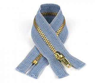 1 Reißverschluss - 10cm - Hochwertig - Metall - Prym - Jeans hell (240)