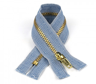 1 Reißverschluss - 12cm - Hochwertig - Metall - Prym - Jeans hell (240)
