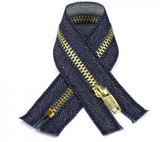 1 Reißverschluss - 14cm - Hochwertig - Metall - Prym - Jeans dunkel (230)