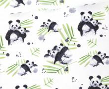 Sommersweat - Bio Qualität - Panda - Panda Love - Grün/Weiß - abby and me