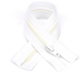 1 Polyesterreißverschluss - 22cm - Nicht Teilbar - Hochwertig - Prym - Weiß (009)