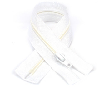 1 Polyesterreißverschluss - 18cm - Nicht Teilbar - Hochwertig - Prym - Weiß (009)