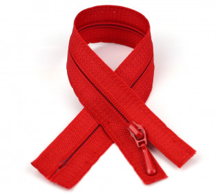 1 Polyesterreißverschluss - 25cm - Nicht Teilbar - Nahtfein -  Hochwertig - Prym - Rot (722)