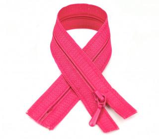 1 Polyesterreißverschluss - 50cm - Nicht Teilbar - Nahtfein -  Hochwertig - Prym - Pink (786)