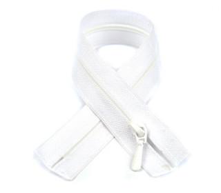 1 Polyesterreißverschluss - 60cm - Nicht Teilbar - Nahtfein -  Hochwertig - Prym - Weiß (009)