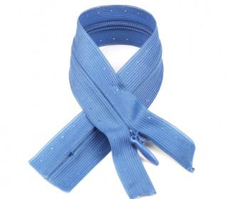 1 Polyesterreißverschluss - 22cm - Nicht Teilbar - Unsichtbar -  Hochwertig - Prym - Taubenblau (235)