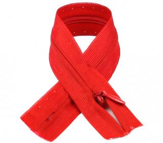 1 Polyesterreißverschluss - 22cm - Nicht Teilbar - Unsichtbar -  Hochwertig - Prym - Rot (722)