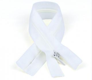 1 Polyesterreißverschluss - 60cm - Nicht Teilbar - Unsichtbar -  Hochwertig - Prym - Weiß (009)