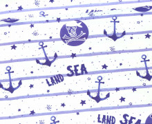 Jersey - Bio Qualität - Kombistoff - Tales of a Sailor - Anker - Streifen - Blau/Weiß - abby and me