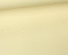 Kunstleder - Fashionstoff - Nappa - Uni - 140cm - Vanille