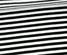 Glattes Bündchen - Streifen - 5mm - Schlauchware - Big Color Stripes - Schwarz/Weiß