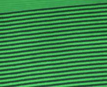 Glattes Bündchen - Streifen - 3mm - Schlauchware - Small Color Stripes - Tannengrün/Hellgrün