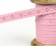 1m elastisches Schrägband  - Jacquard - 12mm - Altrosa