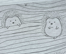 Sommersweat - Playful Hedgehog - Igel - Linien - Grau meliert - Anna Anjos - abby and me