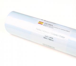 Glänzende Vinylfolie - 21x300cm - Weiß