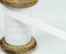 1m Gummiband - elastisch- Glitzer - 10mm - Warmweiß