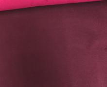 Kunstleder - Alaska - Double Face - Velours - Fuchsia/Bordeaux
