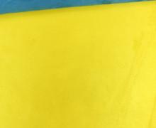 Kunstleder - Alaska - Double Face - Velours - Petrol/Gelb