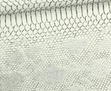 Kunstleder - Comodo - 3D - Schlangen-Look - Grau