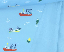 Softshell - Hafen - Anker - Meer - Babyblau