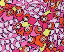 Javanaise - Blusenstoff - Flecken - Kreise - Rosa