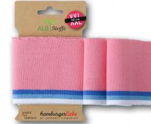 Bio-Bündchen - Stripe - Polo Me - Multi - Cuff Me - Hamburger Liebe - Rosa