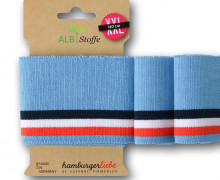 Bio-Bündchen - Stripe - Polo Me - Multi - Cuff Me - Hamburger Liebe - Hellblau
