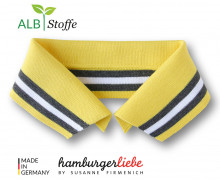 Bio-Polokragen - Stripe - L- College - Polo Me - Multi - Hamburger Liebe - Gelb