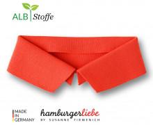 Bio-Polokragen – Uni – S – Polo Me – Hamburger Liebe – Orange