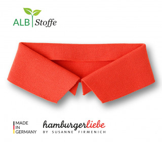 Bio-Polokragen - Uni - S - Polo Me - Hamburger Liebe - Orange