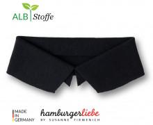Bio-Polokragen - Uni - M - Polo Me - Hamburger Liebe - Schwarz