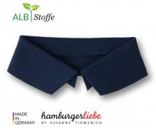 Bio-Polokragen - Uni - M - Polo Me - Hamburger Liebe - Dunkelblau