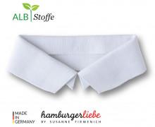 Bio-Polokragen – Uni – S – Polo Me – Hamburger Liebe – Weiß