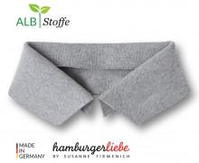 Bio-Polokragen - Uni - S - Polo Me - Hamburger Liebe - Hellgrau
