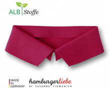 Bio-Polokragen - Uni - S - Polo Me - Hamburger Liebe - Dunkelrot