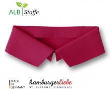 Bio-Polokragen - Uni - XL- Polo Me - Hamburger Liebe - Dunkelrot