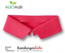 Bio-Polokragen - Uni - M - Polo Me - Hamburger Liebe - Lachsrot
