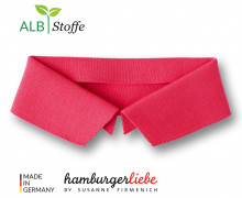Bio-Polokragen - Uni - L - Polo Me - Hamburger Liebe - Lachsrot