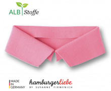 Bio-Polokragen - Uni - XL - Polo Me - Hamburger Liebe - Rosa