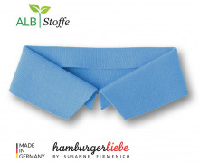 Bio-Polokragen – Uni – S – Polo Me – Hamburger Liebe – Hellblau