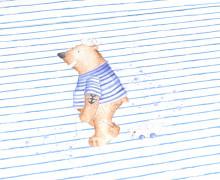 Jersey - Bio Qualität - Paneel -  Küstenbär - gestreift - Treeebird - Weiß - abby and me