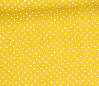 Baumwollstoff - Pünktchen - Petite Dots - Poppy - Ockergelb