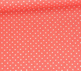 Baumwollstoff - Pünktchen - Petite Dots - Poppy - Coral