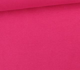 Glattes Bündchen - Uni - Schlauchware - Pink