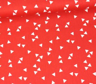 Baumwollstoff - Dreiecke - Triangle - Poppy - Rot
