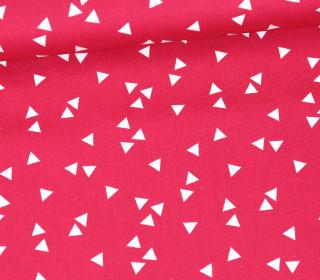Baumwollstoff - Dreiecke - Triangle - Poppy - Magenta