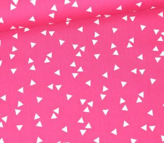 Baumwollstoff - Dreiecke - Triangle - Poppy - Pink