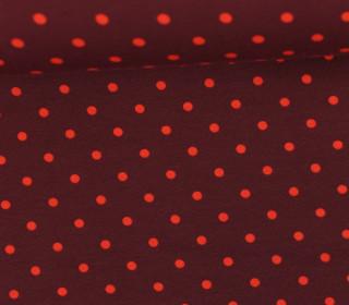 Jersey - Punkte - Mittel - Rotbraun/Orange